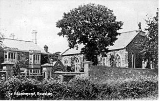 Agapemonites - Image: Postcard of The Agapemone, Spaxton, Somerset 1907