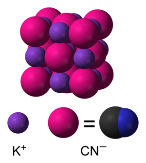 Potassium cyanide - Image: Potassium cyanide phase I unit cell 3D SF