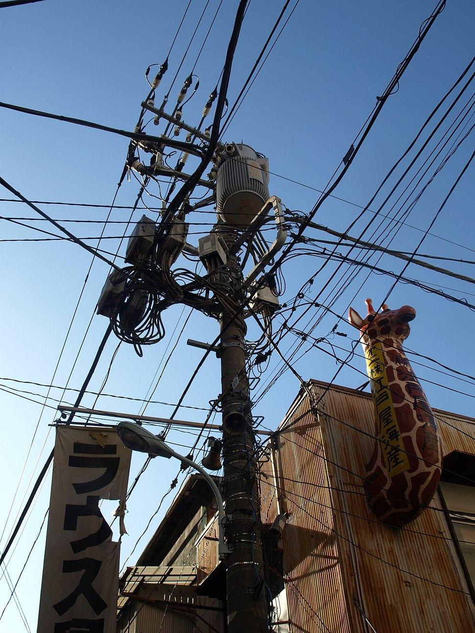 Power Line in Tokyo
