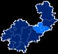 Powiat wrocławski granice gmin i miast Siechnice.png