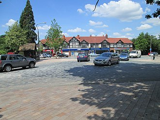 Poynton - Shared space roundabout in the centre of Poynton, new in 2011