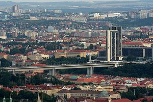 Nusle Bridge - Nusle Bridge with Corinthia Towers hotel