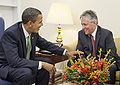 President Barack Obama meets Northern Ireland First Minister Peter Robinson.jpg