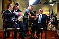 "President Barack Obama participates in an interview with Chuck Todd, new host of NBC's ""Meet The Press"" in the Cabinet Room of the White House.jpg"