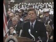 President Kennedy speech on the space effort at Rice University, September 12, 1962