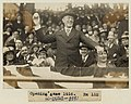 President Woodrow Wilson throwing out the first ball, opening day, 1916; among those present are Edith Bolling Galt Wilson and Mrs. John A. (Ida) Wilson LCCN97518727.jpg