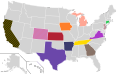 Presidential Candidate Home State Locator Map, 1996 (United States of America) (Expanded).png