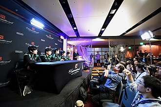 The International 2014 - Vici Gaming during a press conference at The International 2014.