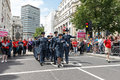 Pride in London 2016 - LGBT members of the military marching in Trafalgar Square.png