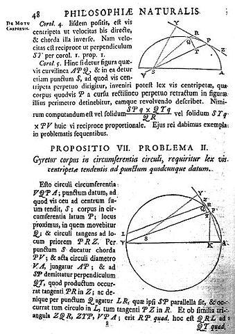 Страница из «Начал» Ньютона (3-е изд., 1726)