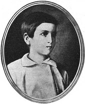 Carol I of Romania - Prince Karl of Hohenzollern Sigmaringen, aged 6
