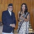 Priyanka Karki felicitated by Prime Minister Sushil Koirala.jpg