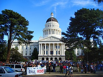 California Proposition 8 (2008) - A post Prop 8 demonstration at the State Capitol