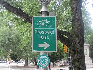 Prospect Park (Brooklyn) - Bike sign for Prospect Park