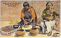 Pueblo Indians of San Ildefonso making pottery without pottery's wheel.jpg