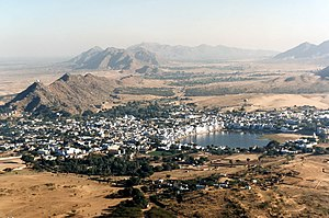 Pushkar - Pushkar, Rajasthan aerial view