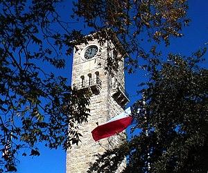 Fort Sam Houston - Clock tower built in 1876 inside the Quadrangle on Fort Sam Houston, Texas.