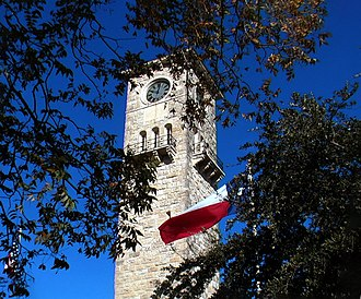 Fort Sam Houston - Clock tower built in 1876 inside the Quadrangle on Fort Sam Houston, Texas.