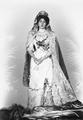 Queen Victoria Eugenie in her wedding dress.png