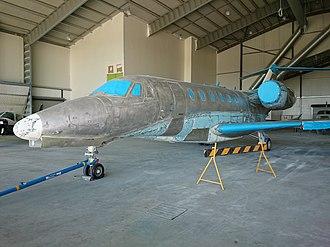 Cessna Citation X - unpainted airframe showing metal construction