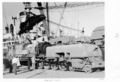 Queensland State Archives 4269 Unloading garrat locomotive Pinkenba 1950.png