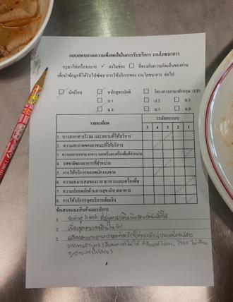 Questionnaire - A basic questionnaire in Thai language