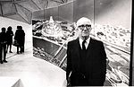 R. Buckminster Fuller with his domed city design.jpg