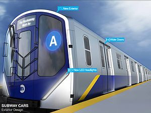 R211 (New York City Subway car) - Rendering of the proposed exterior of an R211 car