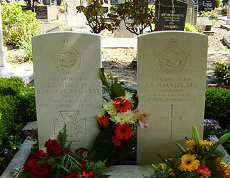 Steenbergen - Graves of RAF Wing Commanders Guy Gibson and Jim Warwick