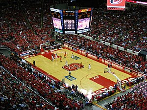 PNC Arena - An NC State college basketball game at PNC Arena in 2008.