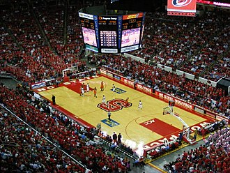 PNC Arena - An NC State college basketball game at the RBC Center in 2008.
