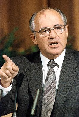 Michail Sergejevitsj Gorbatsjov in 1986