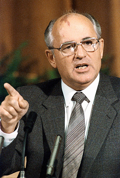 Mikhail Gorbachev, the last leader of the CPSU and the Soviet Union, as seen in 1986 RIAN archive 359290 Mikhail Gorbachev.jpg