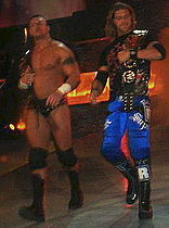 Edge e Randy Orton come World Tag Team Champions nel 2006.}