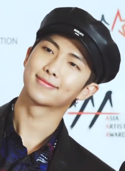 RM at Asia Artist Awards red carpet on November 28, 2018.png