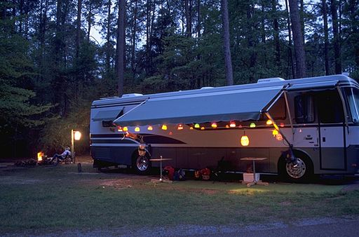 RV Camper at North Toledo Bend State Park
