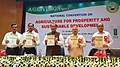"""Radha Mohan Singh releasing the publication at the inauguration of the """"AGRIVISION 2017 National Convention on Agriculture for Prosperity and Sustainable Development"""", organised by Vidyarthi Kalyan Nyas.jpg"""