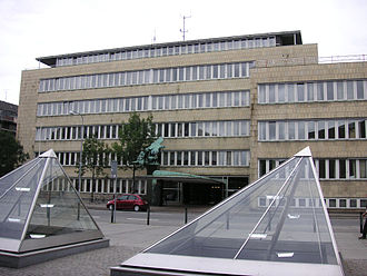 DR (broadcaster) -  The former headquarters of DR, Radiohuset on Rosenørns Allé