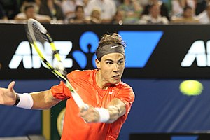 Rafael Nadal at the 2011 Australian Open