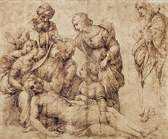 The Deposition (Raphael) - Study in the Louvre