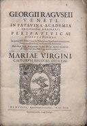 Raguseo - Peripateticae disputationes, 1613 - 4663721.tif