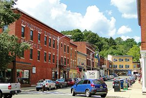 Great Barrington, Massachusetts - Railroad Street, where many popular restaurants and business are located