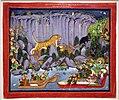 Rajastan, caccia alla tigre di ram singh II, corte di rajput a kota, 1830-40 ca.jpg