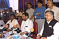 Ram Vilas Paswan briefing the press at the foundation stone laying ceremony of the NMDC 3 MTPA Integrated Steel Plant, at Nagarnar, Dist. Bastar, Chhattisgarh on September 03, 2008.jpg