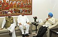 Raman Singh meeting the Deputy Chairman, Planning Commission, Shri Montek Singh Ahluwalia for finalizing plan for 2012-13 for the State, in New Delhi. The Minister of State for Planning.jpg
