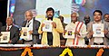Ramdas Athawale releasing the book at the Global Seminar on Dr. B.R. Ambedkar and Constitutionalism.jpg