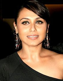 Rani Mukerji is looking directly at the camera