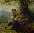 Raphael Ritz Rastende Magd mit einer Ziege.jpg