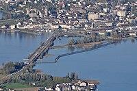 Rapperswil - Seedamm - Holzbrücke - Hurden - Etzel Kulm 2010-10-21 16-44-08.JPG
