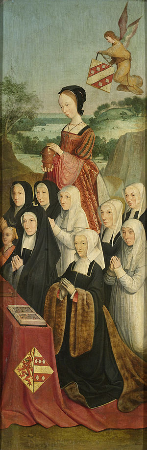 Memorial Panel with Nine Female Portraits, inner right wing of an altarpiece